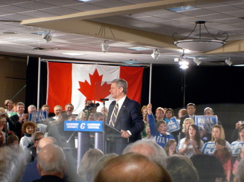Stephen Harper, making a speech