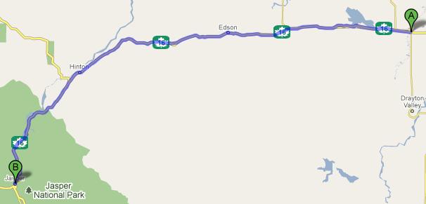 Entwistle to Jasper 260km 엔트위슬에서 재스퍼까지