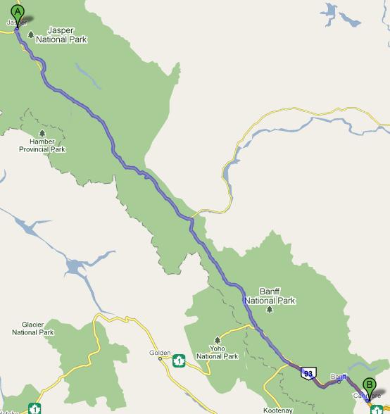Jasper to Canmore 312km 재스퍼에서 캔모어까지