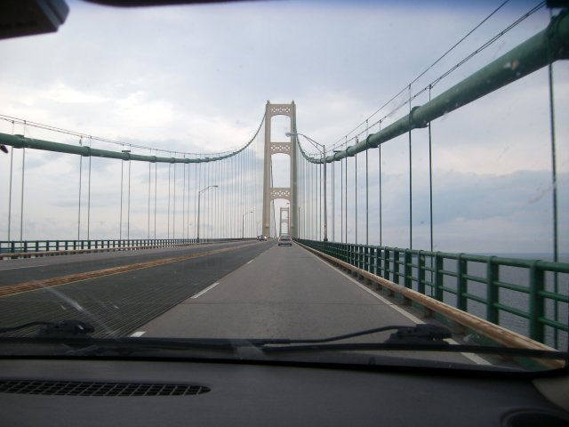 Crossing two Great Lakes at the same time!