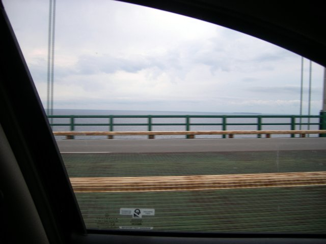 Lake Michigan on the left