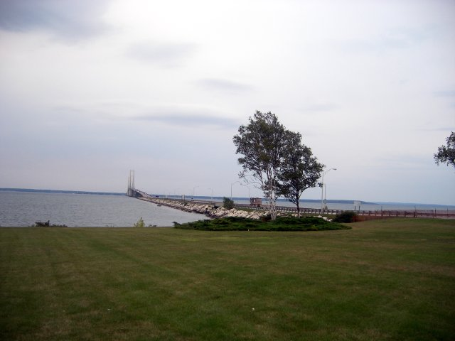 Mackinac Bridge from the upper peninsular