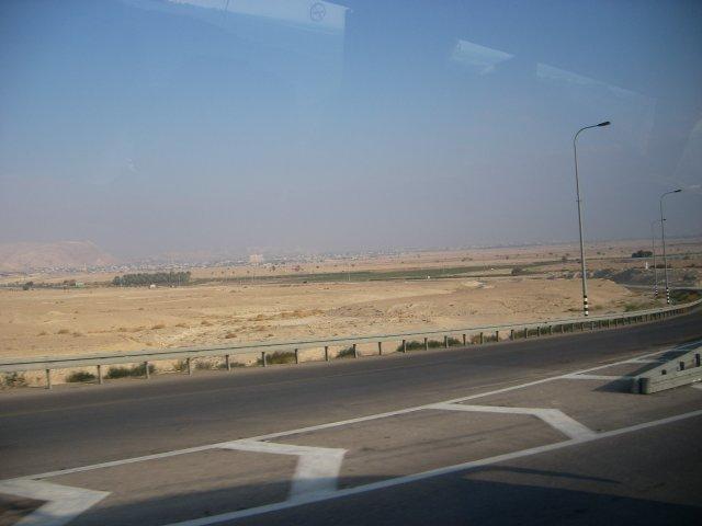 Flatbed near the Dead Sea