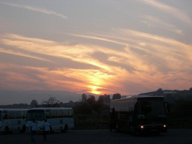 Sunset in Capernaum
