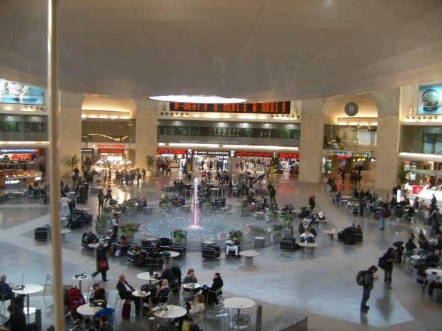 Ben Gurion Airport in Tel Aviv, Israel