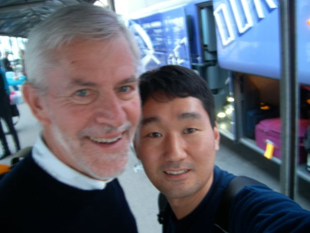 With Ted Hiebert