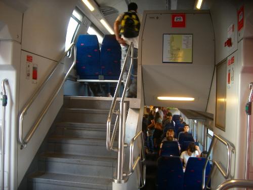 Double Deck Israel Railway Train