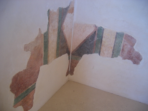 Original Wall painting in Masada