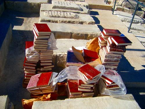 Torah books in Jewish Cemetery
