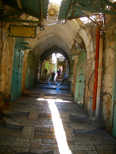 Old City streets on Palestinian shops