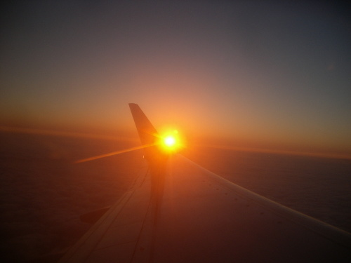 Sunrise in the Airplane