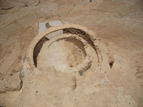 Herod's Palace on the edge of Masada