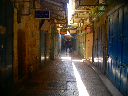 Empty Road in Old City Jerusalem