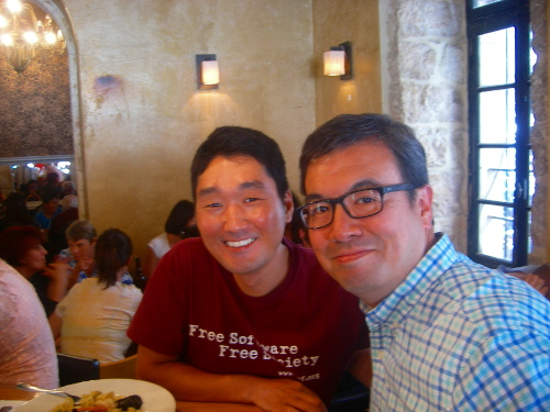 With Dr. Frank Yamada, the president of McCormick Theological Seminary