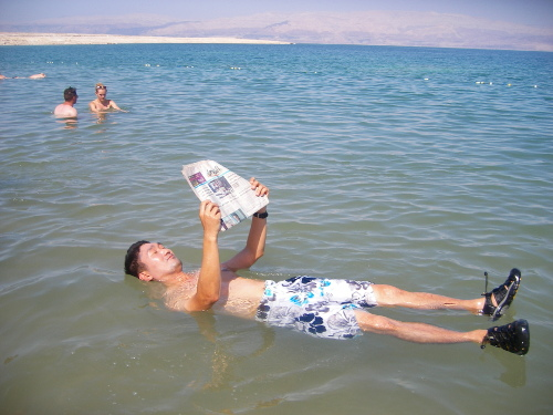 Reading on the Dead Sea