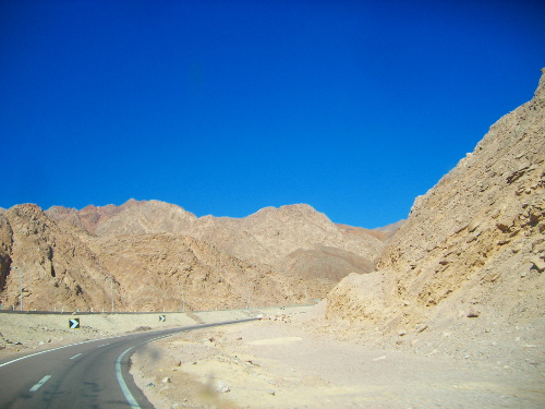 Mountain Area on the way to Sharm near Red Sea