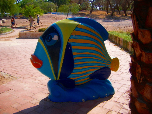 Fish Statue in Eilat