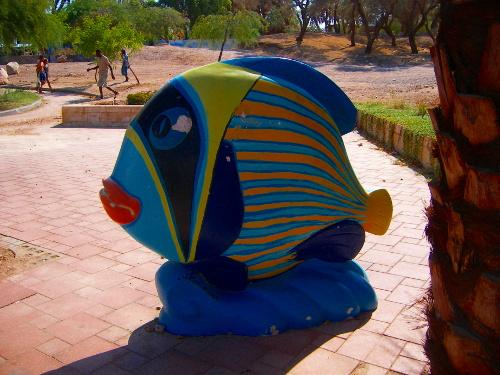 Fish Statue in Eilat