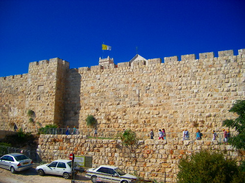 City Wall near Jaffa Gate