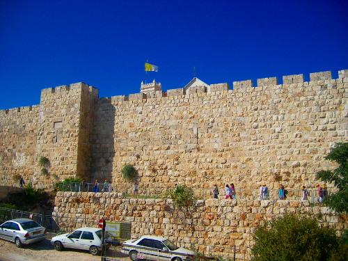 City Wall near Jaffa Gate