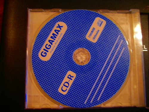 Burnt CD, not original