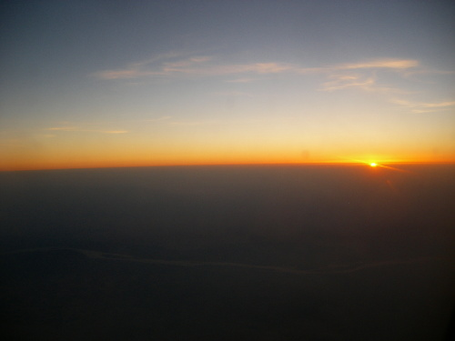 Sunset in the Airplane