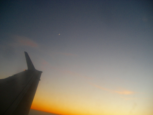 Moon from the Airplane