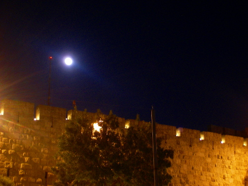 Moon over Jaffa Wall