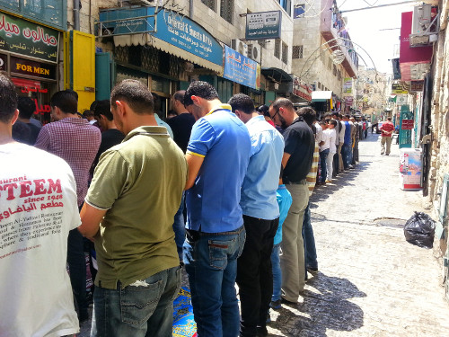 Friday Worship of Muslims on the street