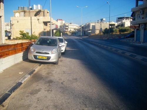 Sidewalk in Beit Sahour
