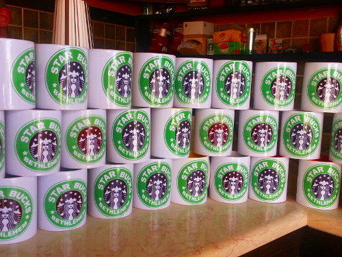 Starbucks mug sales in Bethlehem