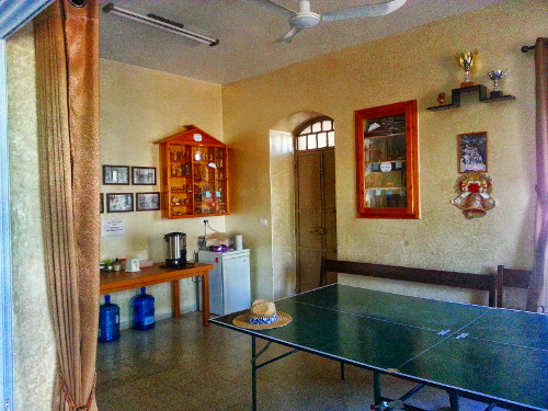 Common Room in the church with pingpong table