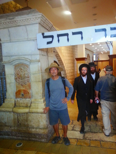 Inside the Synagogue of Rachael's Tomb