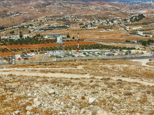 Israeli Army base seen from above