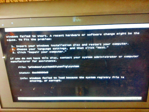It is always good to see the windows error message in public